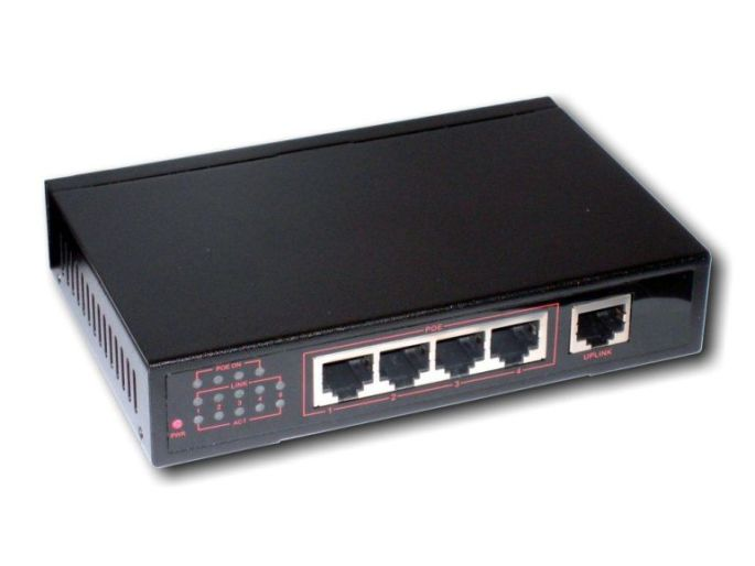 POE switch 4POE+1 port 10/100/1000, 802.3af, gigabitové porty