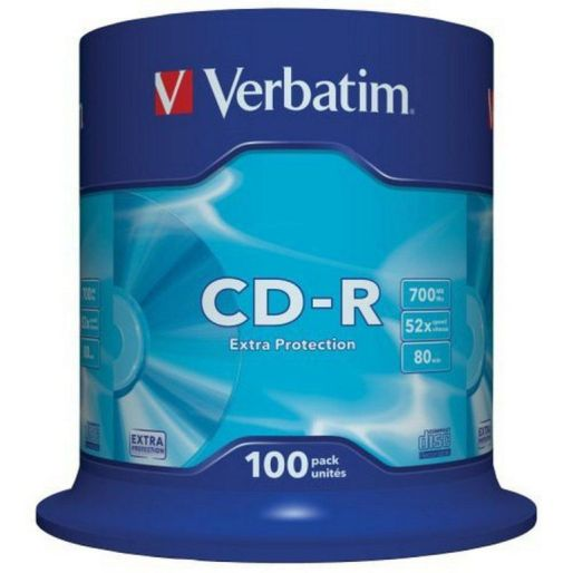 CD-R Verbatim 700/52 cake - spindl
